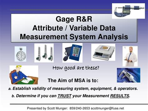 gage r r measurement systems analysis sle slides