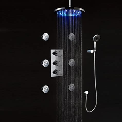 led bathroom faucet faucets images led wall mount thermostatic shower faucet