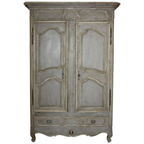 painted armoire wardrobe large painted french armoire at 1stdibs