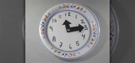 A Paper Clock - how to make an easy paper plate clock with your