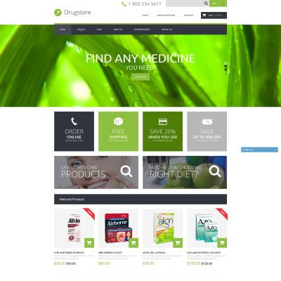 shopify themes bootstrap drug store shopify themes