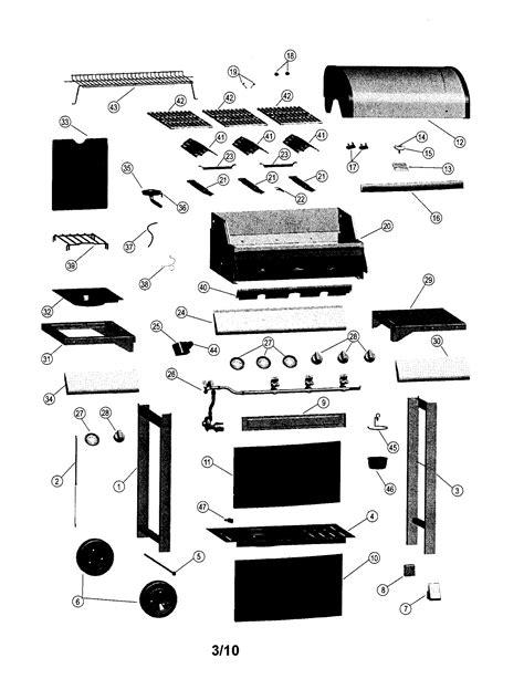 gas grill parts diagram kenmore gas grill parts model 41516114010 sears