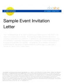 template for invitation letter for an event formal letter of invitation templates cloudinvitation