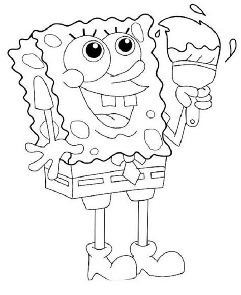 nickelodeon coloring pages spongebob nickelodeon spongebob coloring pages coloring home