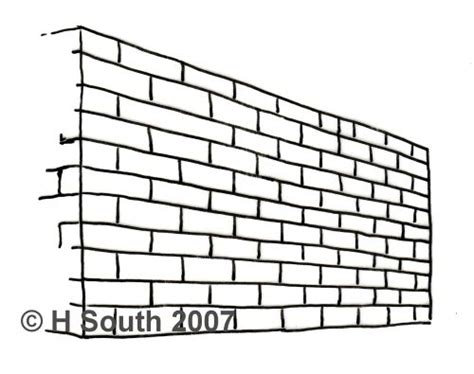 brick pattern line drawing draw a brick wall in perspective