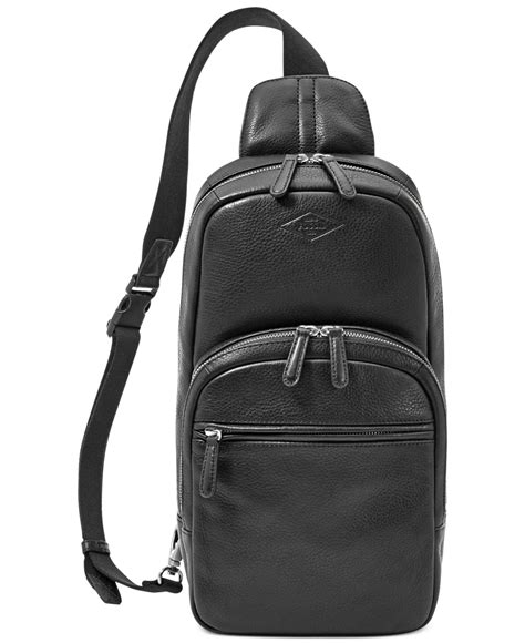 Mickship Roop Sling lyst fossil mick leather slingpack backpack in black for
