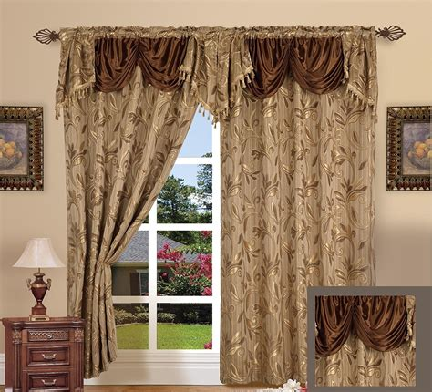 drapes with attached valance living room curtains with attached valance garnish
