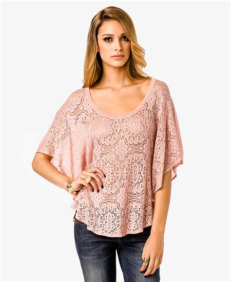 Usa Luvena Fortuna Knitted Hat lyst forever 21 flowy crochet top in pink