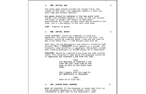 video script layout screenplay layout images reverse search