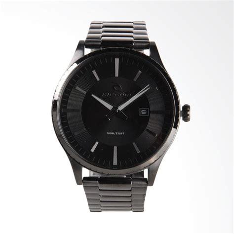 Jam Tangan Pria Ripcul Date On Stainlist Black jual rip curl sss jam tangan pria gunmetal a2944