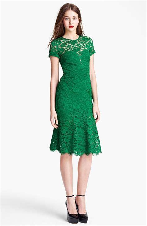 green dress emerald lace dress green