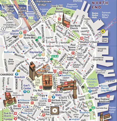 tourist map of boston usa vandam maps image gallery