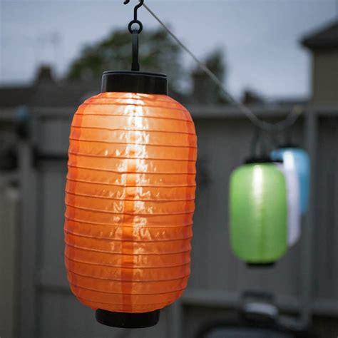 String lights chinese lantern orange ellipse solar led
