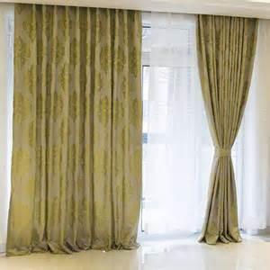 Room curtains great green jacquard curtains window treatments ideas