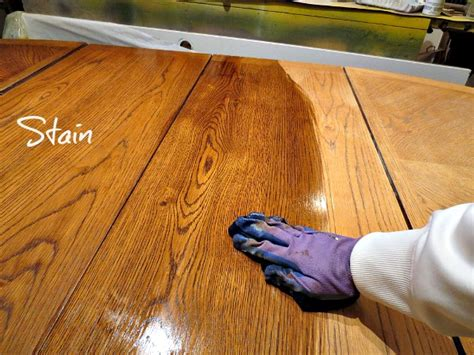 how to stain a dining room table refinished table painted base my altered state