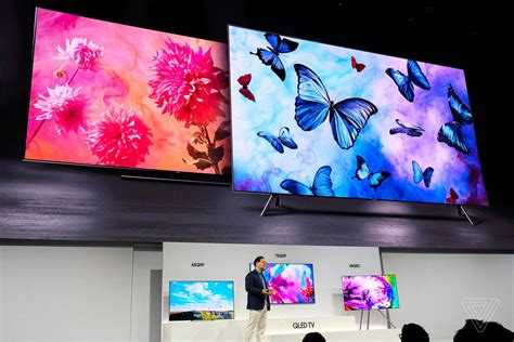 samsung q series differences samsung s 2018 qled 4k tvs blend into your wall and your smart home the verge