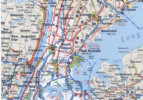 road map new york bronx highway map