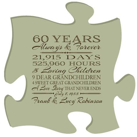 171 best 60th anniversary gifts images on parent wedding gifts personalised gifts