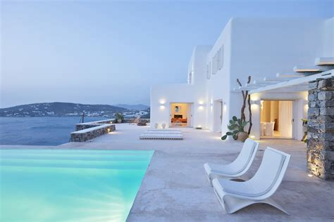 Luxury Estate Home Plans rental villa with amazing sea and sunset view greece