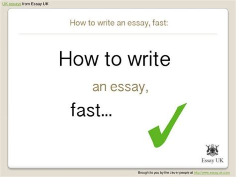 How To Write Essays Fast by How To Write An Essay Fast Essay Writing Help