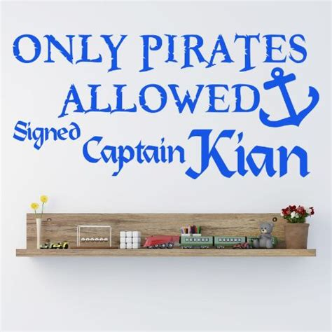 pirate wall stickers ideal for boys bedrooms