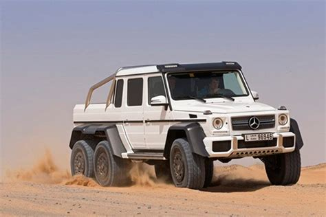 mercedes jeep white mercedes g63 amg 6 215 6 when 4 215 4 isn t enough technabob