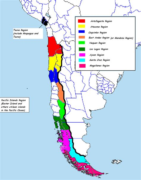 chile regions map chile regions map