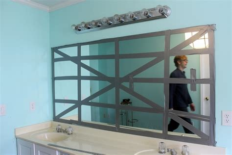 how to remove glass mirror from bathroom wall how to remove a frameless mirror like a nervous grandma