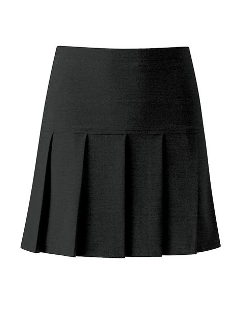 match fit kit pleated black school skirt senior sizes