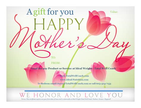 printable gift certificates for mother s day mother day certificates www imgkid com the image kid