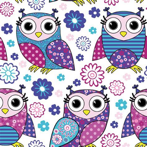 owl pattern vector free download cute cartoon owls vector seamless pattern 02 vector