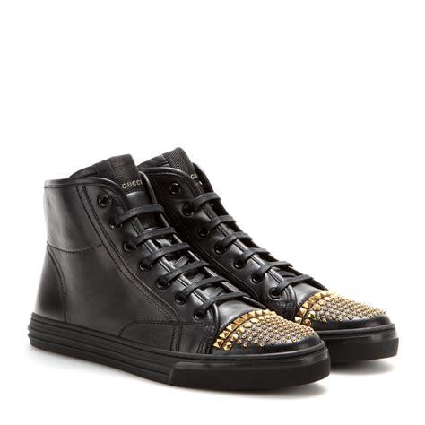 gucci california high top sneakers gucci california leather high top sneakers in black lyst