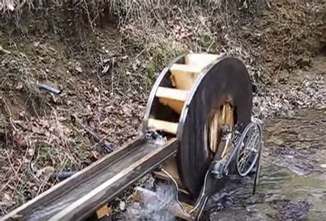 free electricity water wheel generator