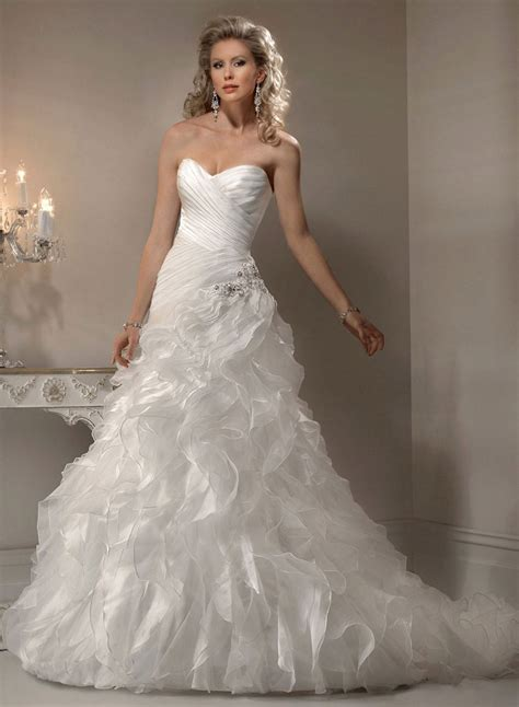 custom wedding dress sweetheart ivory organza a line wedding dress beautiful