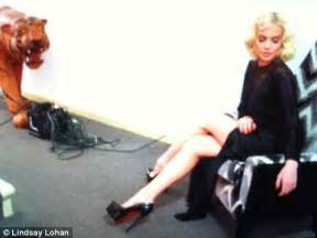Lindsay Lohan Is A Tiger In The Sack by Lindsay Lohan Has Another Marilyn Moment As She