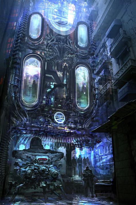 cyberpunk city concept environment sci fi concept art fzd clubz 01a jpg by feng zhu cyber mech art
