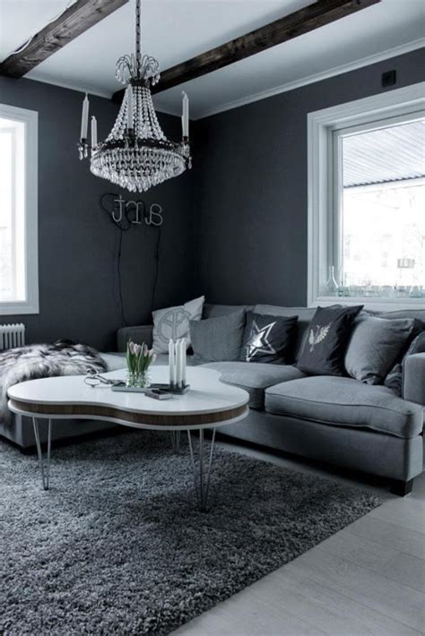 unique beam white ceiling paint color for rustic modern living room with grey interior color
