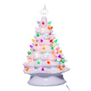 white ceramic tree with lights retro light up white ceramic tree retrofestive ca