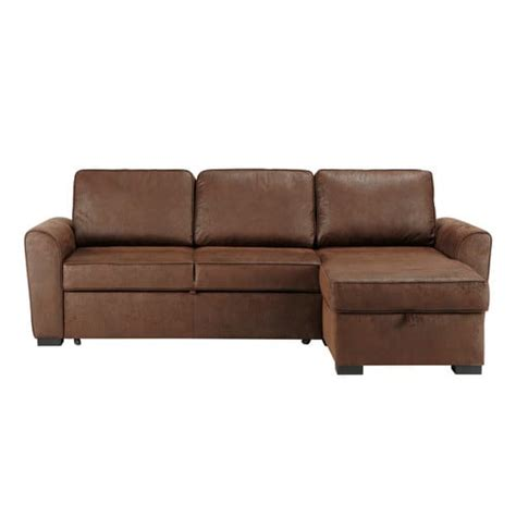 montreal sofa bed 3 4 seater distressed imitation suede corner sofa bed in