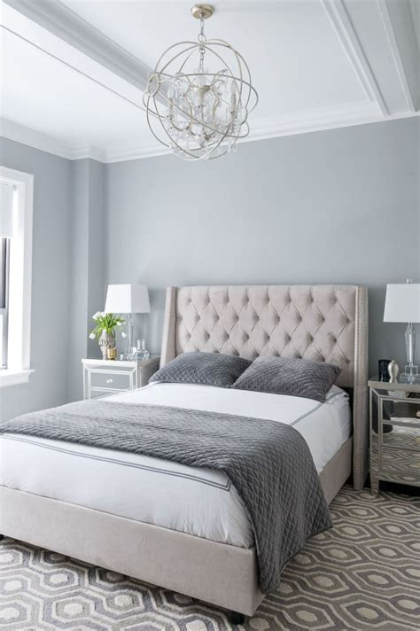 modern gray bedroom a regal modern midtown apartment shades bedrooms and calmi