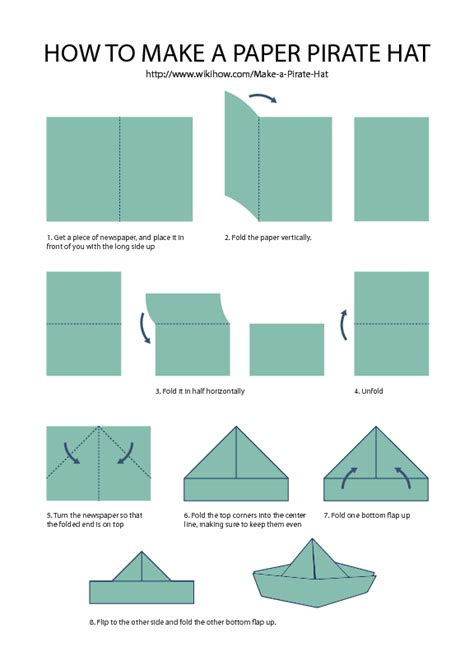 Folded Paper Hat - pirate hat guide from wikihow pins from our fans