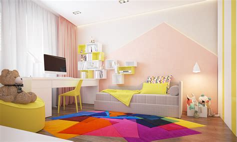 two homes with colorful rooms included