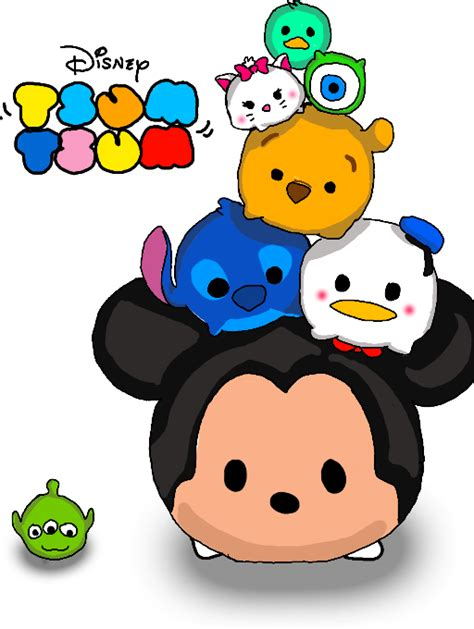 Kaos Tsum Tsum Doll Stack japanese fan clipart