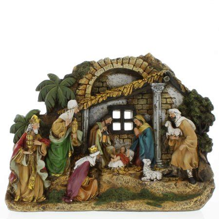 christmas stable walmart nativity stable walmart
