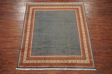 7x8 Sarouq Paisley Persian Hand Knotted Wool Area Rug 1970 Paisley Area Rugs