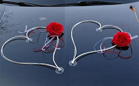 Deko Hochzeit Rot Weiß by Dekoriert Ratan Herzen Auto Braut Paar Deko