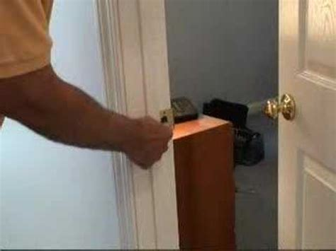 putting a lock on a bedroom door fixing a door latch video youtube