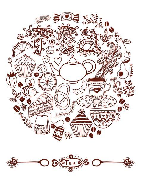 doodle time doodle artherapie tea time 224 dessiner pour adulte