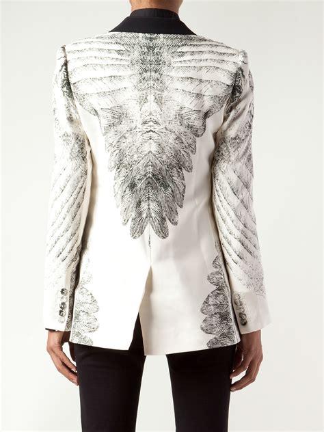Print Sweater Hoodie Boho Feathers haute hippie feather print tuxedo jacket in white lyst