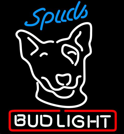 Bud Light Neon Sign by Bud Light Spuds Neon Sign Neon